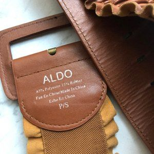 ALDO Women's Camel High Waist Belt